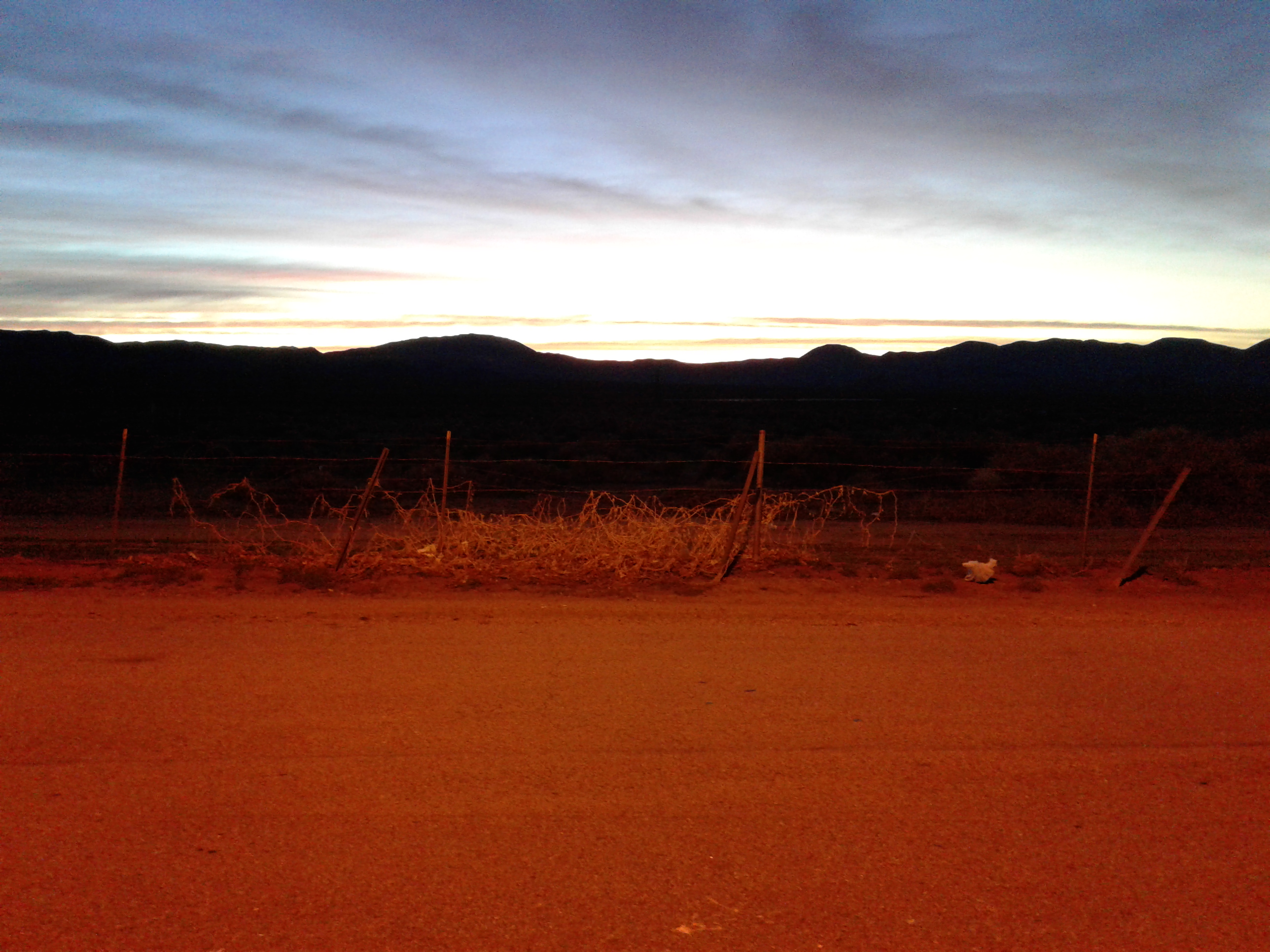 01 - Sunrise at Coso Junction rest stop 2017-03-10